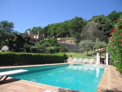 La Bastide de Prenn, pool, garden and house