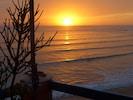 Coucher de soleil  vu  de la terrasse