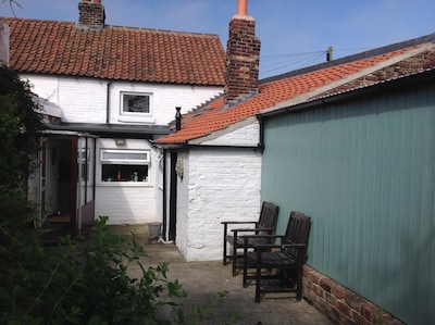 Rear of cottage.