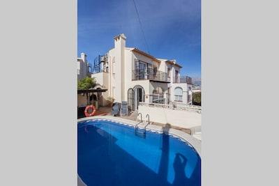 Modern 3 Bedroom semi detached villa in Albir,  Air-con, English TV
