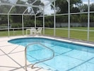 Pool with large deck areas