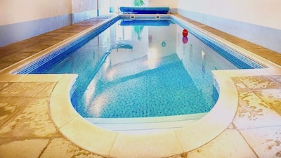 The heated indoor pool at Barn Owl