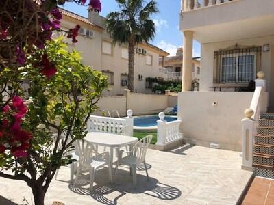 newly refurbished terrace