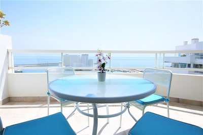 Amazing balcony views over the marina and the sea