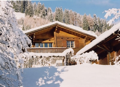 Chalet La Taupiniere in winter