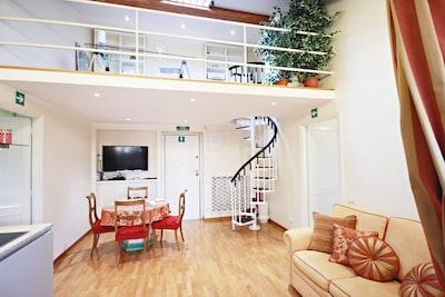 living room with studio