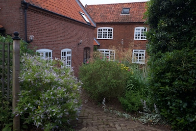 View of the house, the older cottage to the right.