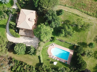 Drone View (house and private pool)