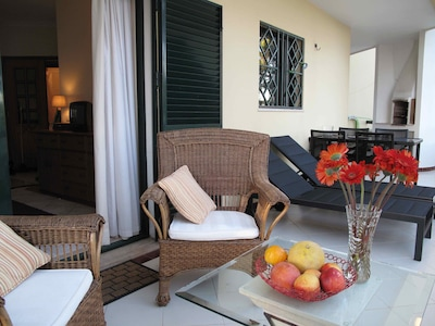 """Appartement """"les terrasses de Quarteira"""" vue du balcon"""