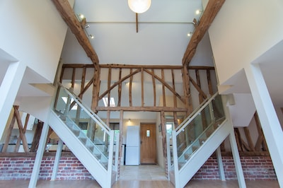 stunning double staircase