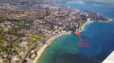 L'emplacement de la penthouse entre les 2 plus belles plages de Concarneau.