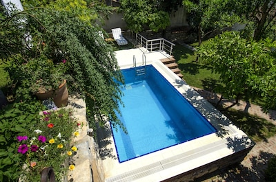 Garden House pool in spring