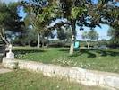 jardin commun devant les villas