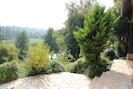 terrasse et vue sur la vallée de la Charentonne