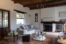 Comfortable sitting room with ample seating