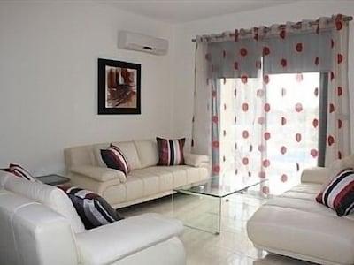 Spacious luxury lounge area