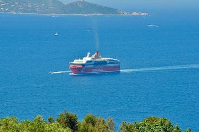 vue arrivée bateau