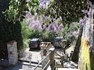 Entrée jardin avec parkings