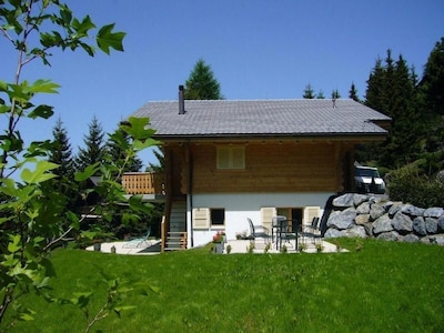 The chalet in summer.