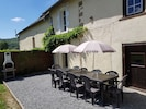 Direct Access to the rear Terrace area, seating for 10 people, Parasols & BBQ.
