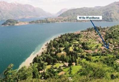 Villa avec la vue sur le lac et dans le parc naturel de San Martino