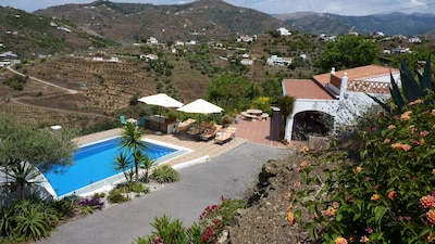 Villa & pool with sea and mountain views