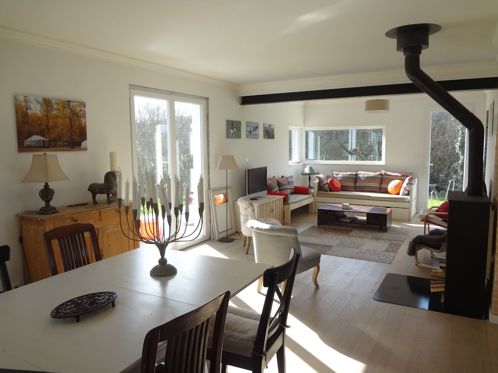 Bright And Calm House With Garden At 500 M From The Beach Pink Granite Coast Boudilleau