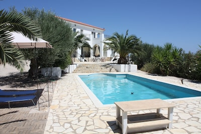 Pool and villa