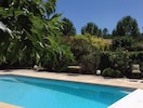 The pool in mature gardens