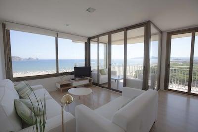 L Estartit: Magnífico apartamento en primera línea de mar