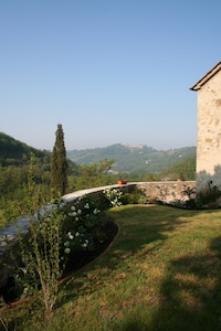 View of Montone from the East garden
