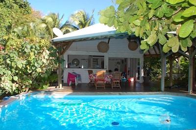 Villa Noix de cajou, piscine privée au sel