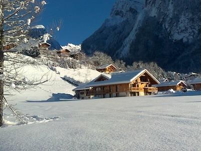 Appartement chalet à Samoëns, domaine skiable du Grand Massif, Haute Savoie, Rhône-Alpes, France