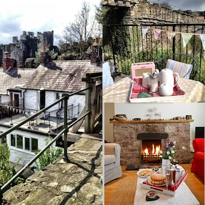 Castleview Cottage located against the Medieval Walls of Conwy Town