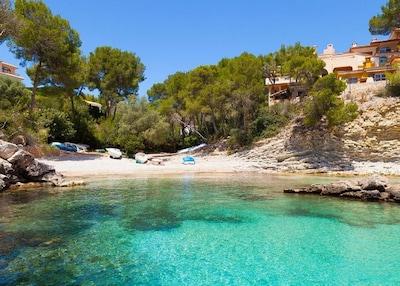 Cala Fornells Beach, Calvia, Balearic Islands, Spain