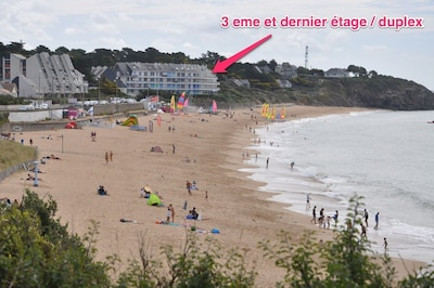 Face a la mer / 7 Personnes / Acces direct plage / WIFI