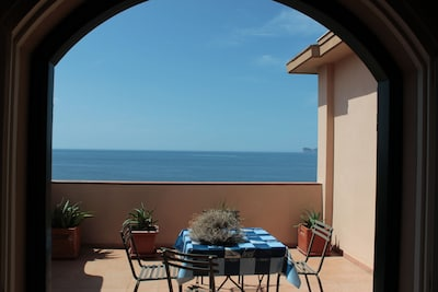 The terrace overlooking the gulf of Alghero