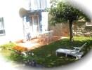 Le jardin 100m2 clôturé, plein sud !