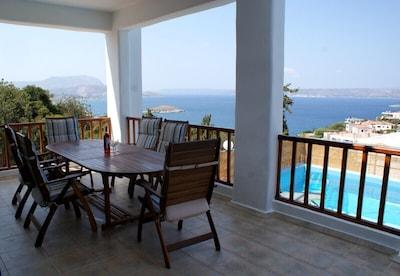 One of Villa Julanda's sea facing balconies