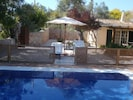 One Side of  Patio and Pool