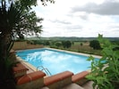 View of country side and pool