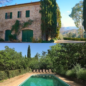 Casa Chiesa and the lovely pool.