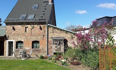 Cottage im Fläming - Gartenansicht