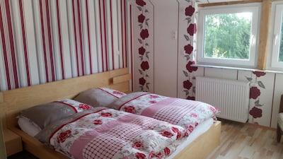 Schlafzimmer mit Lahnblick