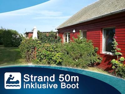 Mein Ostseeferienhaus - Strandhaus / Bungalow an der Ostsee -  mit Boot - Wlan