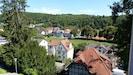 Vom Balkon genießen Sie einen wunderschönen Blick über Pappenheim.