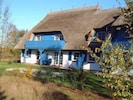 Landhaus mit 'Zeesenkoje', Garten und Steinbeet