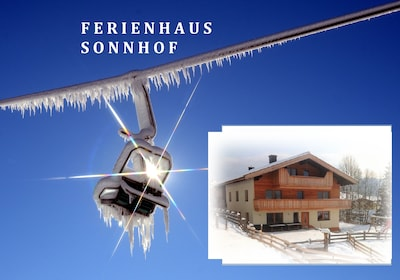 Unser Ferienhaus Sonnhof im KAISERWINKL, hier im kaiserlichen Winterkleid