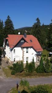 die Jugendstilvilla Haus Anemone (aus der Vogelperspektive)