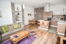 Wohnzimmer mit der Küche